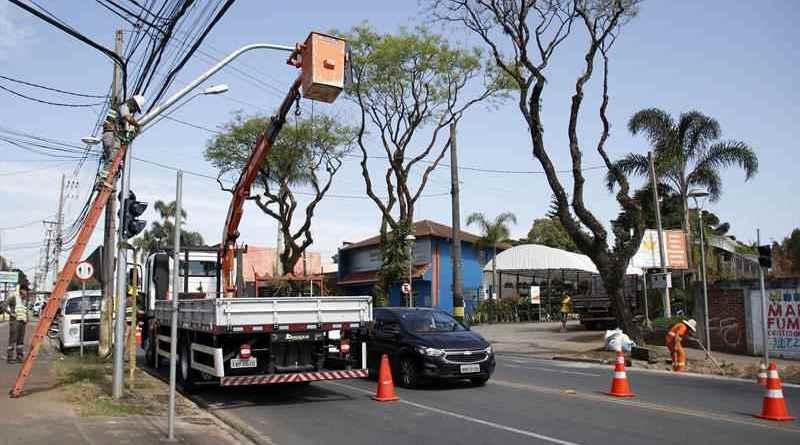 Novos semáforos na Avenida Toaldo Túlio