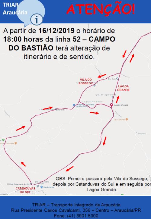 Linha 52 Campo do Bastião