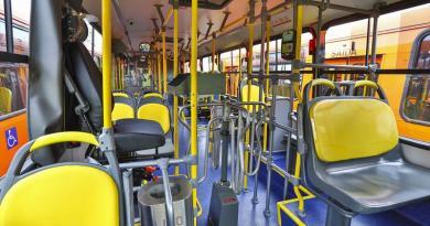 Cidade ônibus Bancos