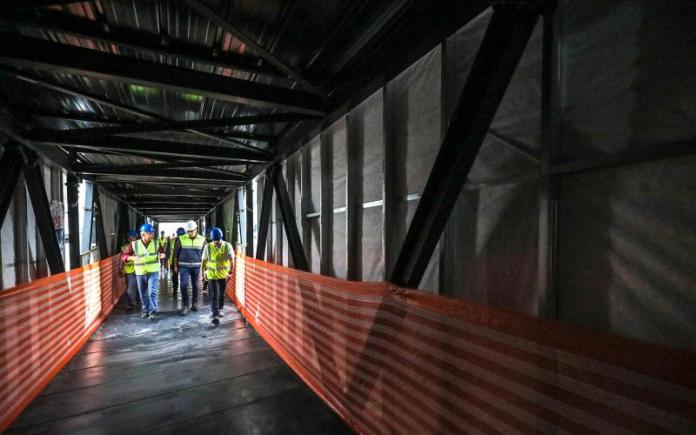 obras acesso Floripa Airport