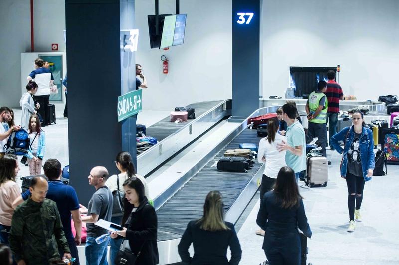 Novo aeroporto esteiras