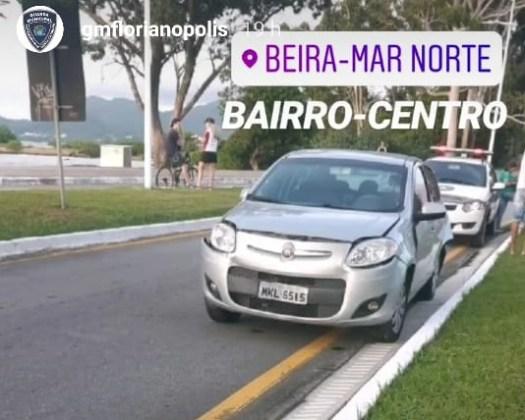 Engavetamento veículos Avenida Beira-Mar Norte