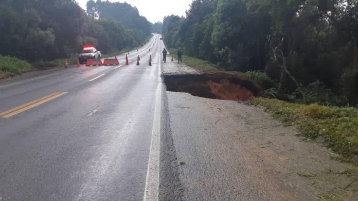 Erosão na BR-280