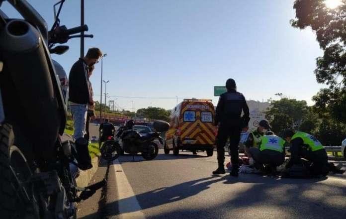 Acidente na Via Expressa Motociclistas