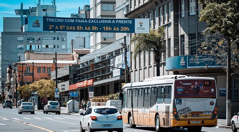 Faixa exclusiva em Porto Alegre