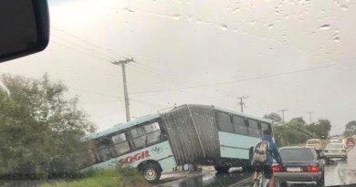 Ônibus Sogil Acidente