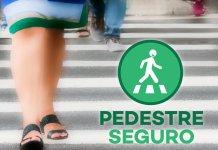 pedestre seguro faixa de pedestre