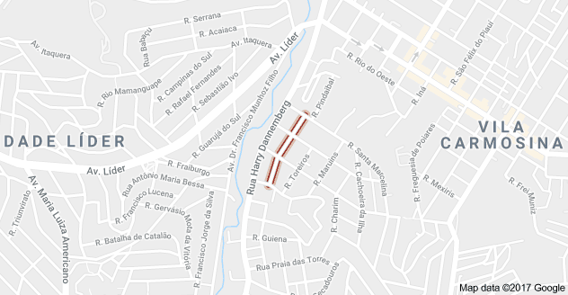 Rua Cachoeira Itupanema Vila Carmosina