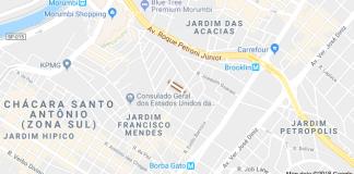 circulação no trânsito Rua Doutor João Carlos Kruel