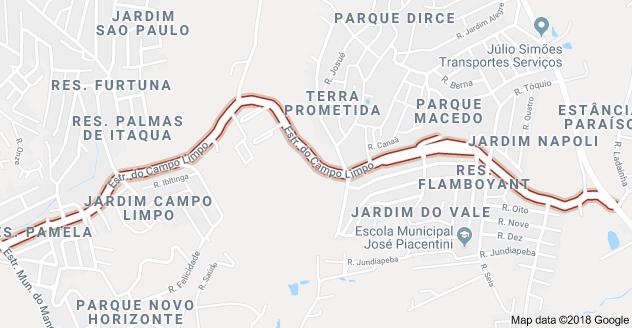 alterações Estrada do Campo Limpo Itaquaquecetuba