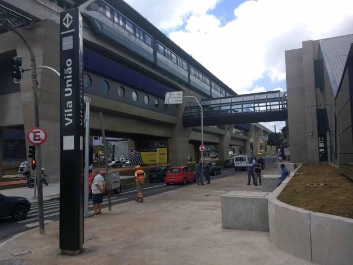 Testes Nova Estação Vila União Linha 15-Prata Monotrilho
