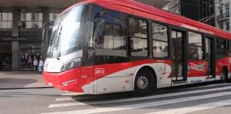 sptrans ônibus curva