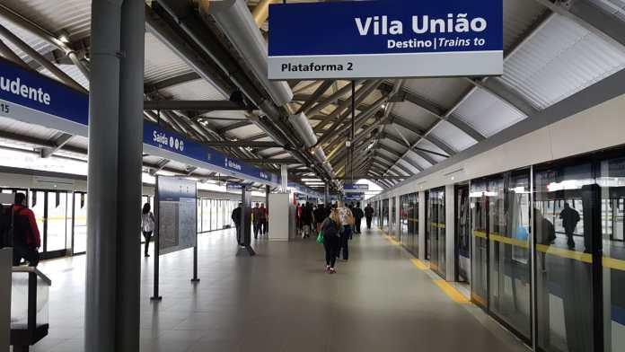 Plataforma Estação Vila Prudente União Linha 15-Prata