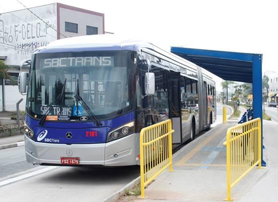 Ônibus da SBCTrans Tarifa de ônibus em São Bernardo do Campo