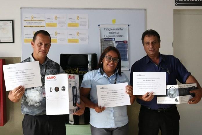 Os três premiados