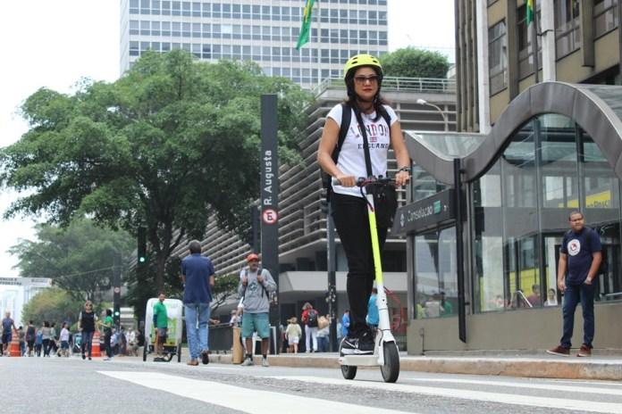 Patinete da Scoo na Semana da Mobilidade Patinetes elétricos