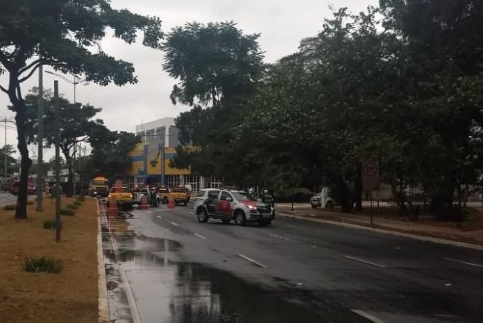Bloqueio Avenida dos Bandeirantes