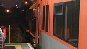 Trem quebrou na estação Jardim Helena-Vila Mara da Linha 12-Safira