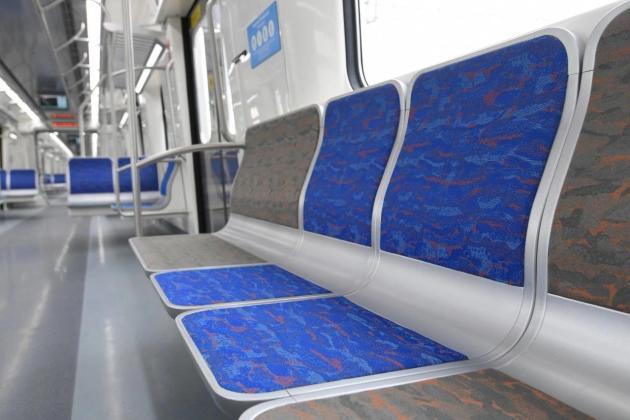 Primeiro trem assentos