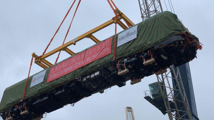 Primeiro trem chegou ao Brasil