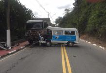 Acidente na Estrada Municipal Bela Vista