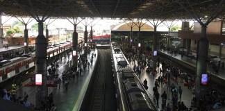 Linha 7-Rubi na estação Brás