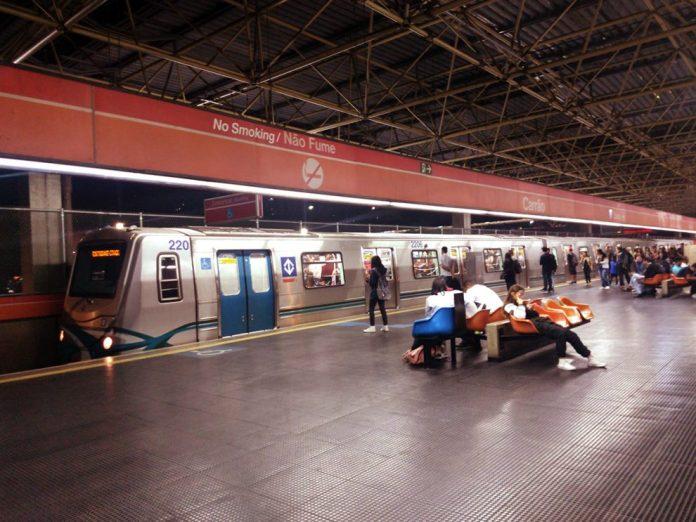 Plataforma da estação Carrão Linha 3-Vermelha