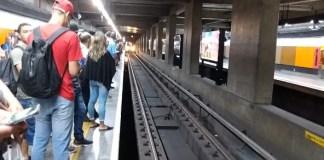 Plataforma do Jabaquara Linha 1-Azul