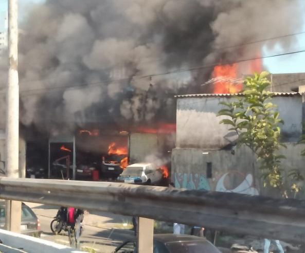 Fogo na Avenida Aricanduva