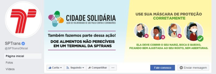 SPTrans Facebook