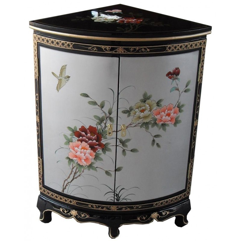meuble d angle chinois laque gris meuble chinois laque