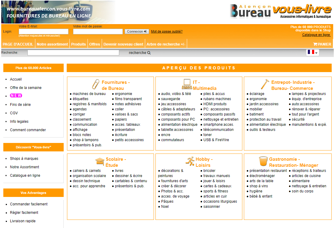 Fourniture de bureau pour les professionnels - bureaualencon.vous-livre.com