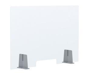 PAPERFLOW Ecran de comptoir, acrylique, (L)980 x (H)650 mm transparent, en PMMA (verre acryliqque) et polystyrène, épaisseur du matériau: 4 mm, ouverture: (L)300 x (H)60 mm, livré démonté, métériel de montage inclus, résistant aux désinfectants