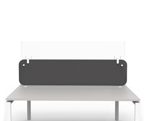 Les rehausses de protection pour panneaux de séparation, en plexiglass, permettent d'augmenter la hauteur de protection entre les personnes, sans perte de luminosité. PROTECT est disponible en 1 hauteur et 3 largeurs et s'adapte à tous types de panneaux écrans.