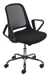 SINGLE Un siège compact avec accoudoirs pivotants pour se ranger facilement sous le bureau.