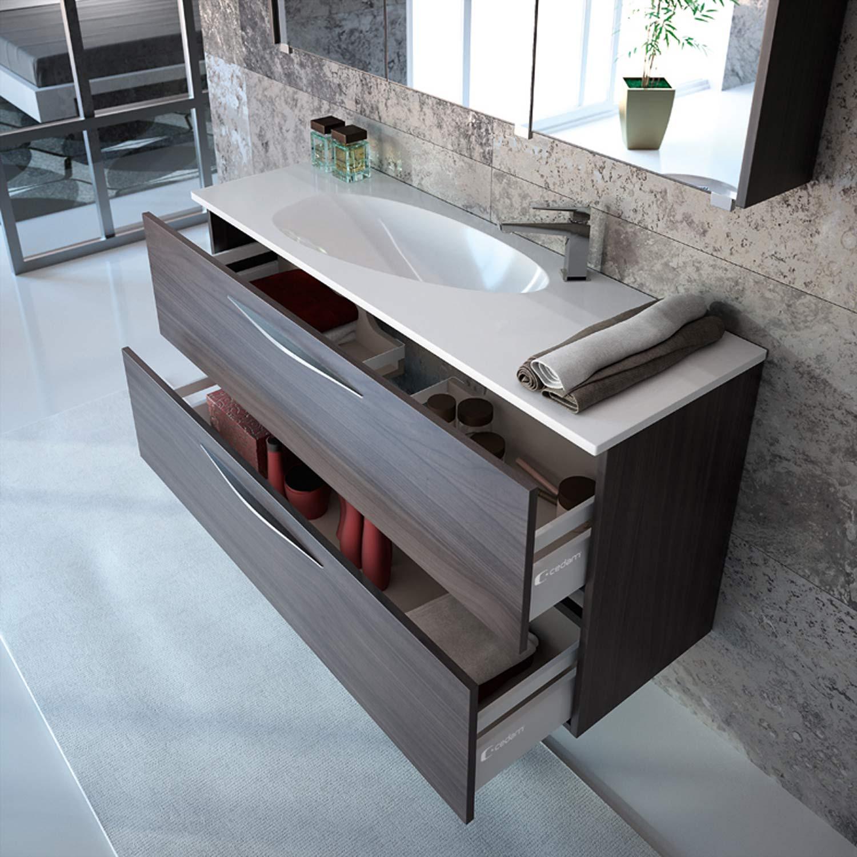 meuble de salle de bain slim cedam