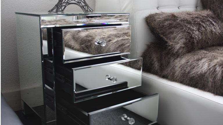 Miroir Tete De Lit Excellent Gina Laque Blanc Chambre A