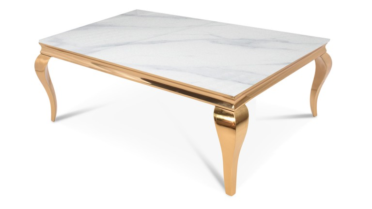 table basse doree baroque rectangulaire betty