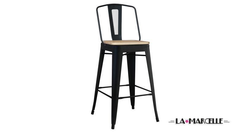 tabouret de bar tole design industriel assise 79cm la marcelle