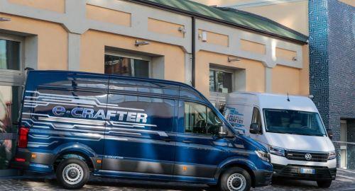 E-Crafter: anteprima italiana per il van a emissioni zero di Volkswagen Veicoli Commerciali