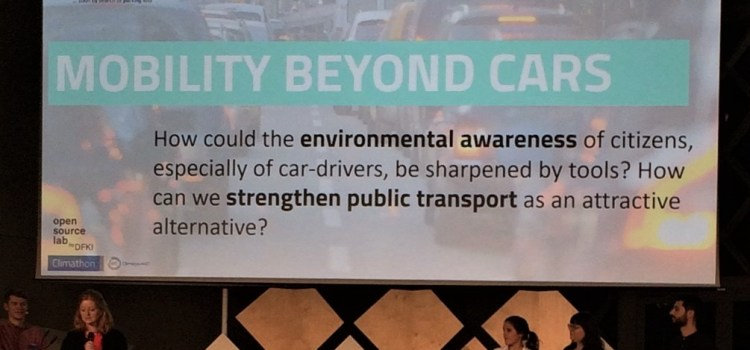 Climathon stream to reduce car traffic in cities