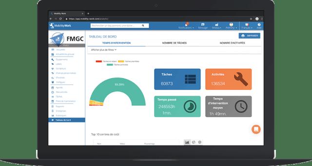 gmao mobile outil analytique données maintenance