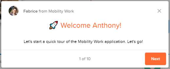 mobile cmms onboarding tour