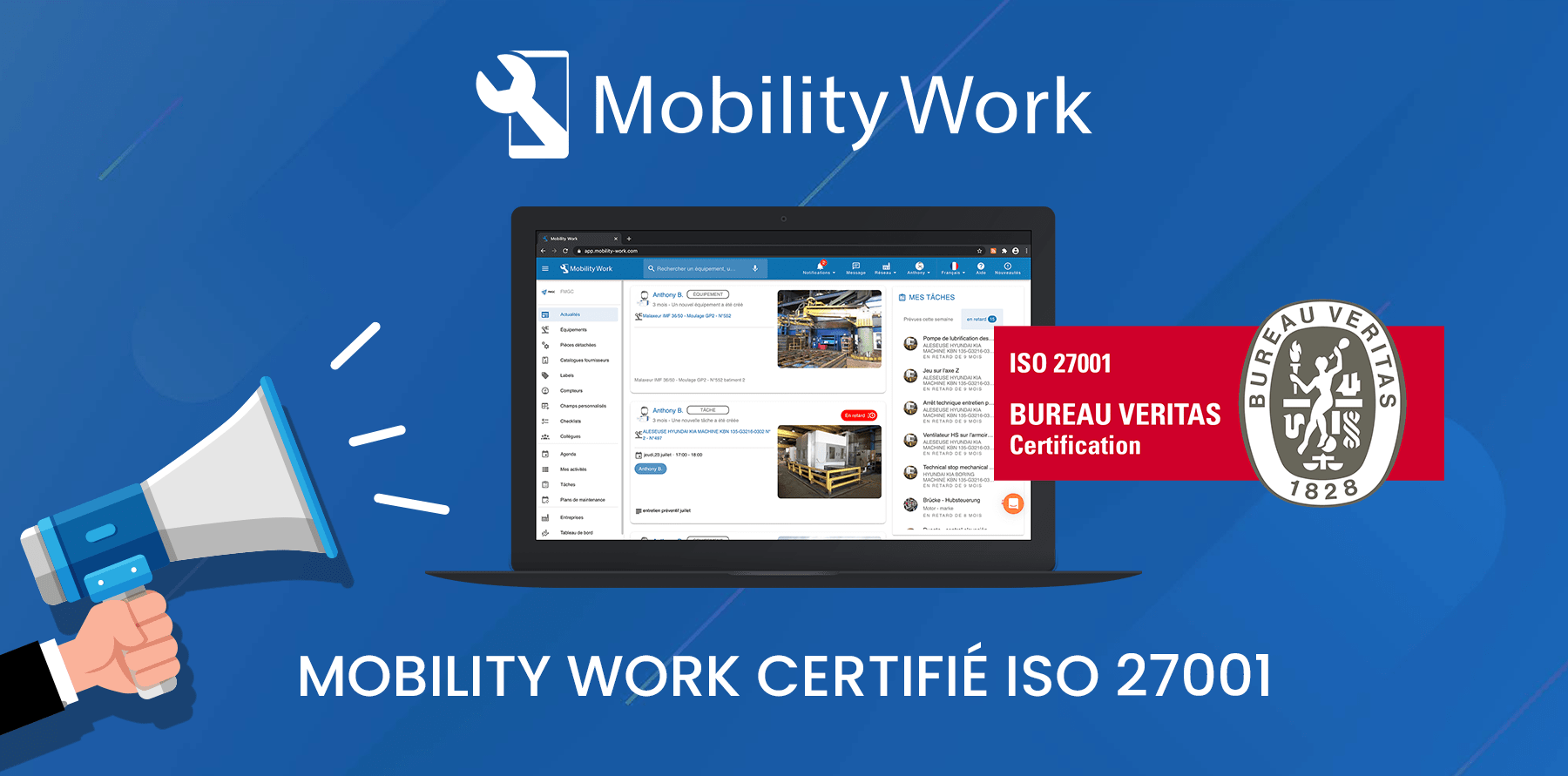 CMMS Mobility Work achieved ISO 27001 certification