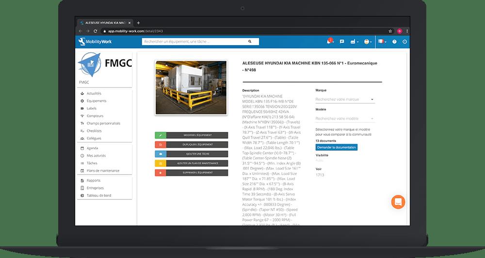 Dupliquer une fiche équipement depuis la GMAO communautaire