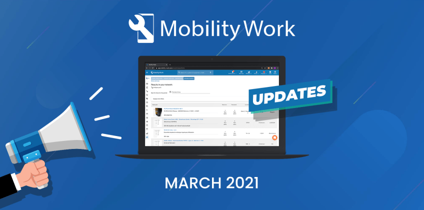 CMMS updates: improved user experience on the platform | March 2021