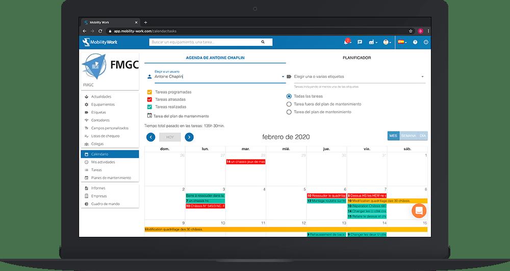 Gestionar los calendarios de mantenimiento y la planificación en la GMAO