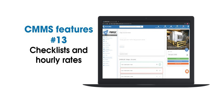 CMMS updates: Checklists And Hourly Rates| August 2020