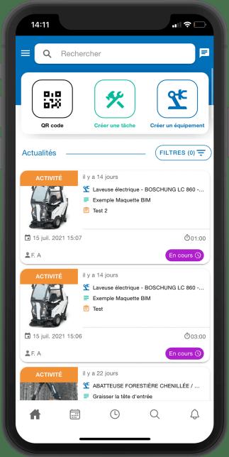 Application de GMAO mobile pour la logistique et la transport