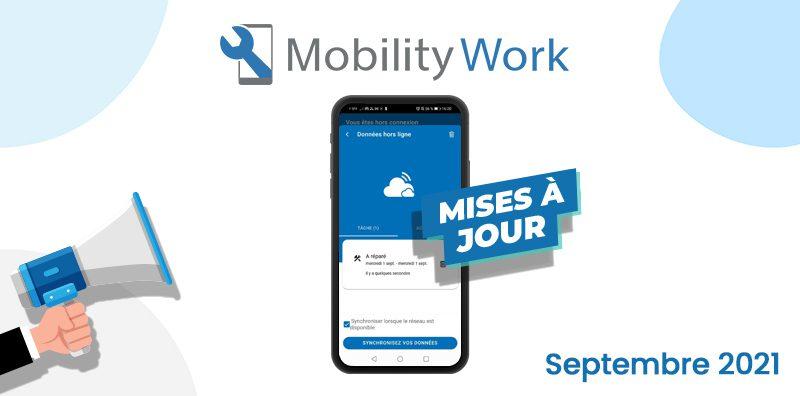 Nouveautés GMAO : créez des tâches en mode hors-ligne | Septembre 2021